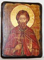 Леонид, Св.Муч, икона под старину, сургуч (13 Х 17)