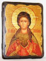 Любовь, Св.Мч, икона под старину, сургуч (13 Х 17)