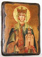 Людмила, Св.Мч, икона под старину, сургуч (13 Х 17)