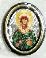 Мария Магдалина. Икона настольная малая, зол. кант, овал. (50 Х 65)