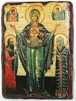 Мирожская Б.М., икона под старину, сургуч (13 Х 17)