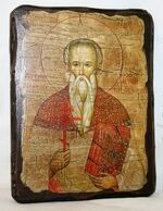 Мирон Кизический, икона под старину, сургуч (13 Х 17)