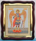 Арх. Михаил (рост), в фигурном киоте, с багетом. Большая аналойная икона (28 Х 32)