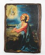 Моление о чаше, икона под старину, сургуч (17 Х 23)