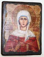 Наталия, Св.Мч, икона под старину, сургуч (13 Х 17)