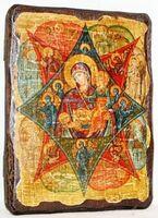 Неопалимая Купина Б.М., икона под старину, сургуч (13 Х 17)