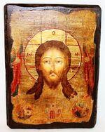 Спас Нерукотворный, икона под старину, сургуч (17 Х 23)