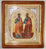 Петр и Павел, икона аналойная, риза, упаковка, (23 Х 26)