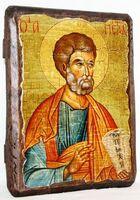 Апостол Петр, икона под старину, сургуч (13 Х 17)