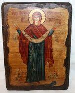 Покров Б.М., икона под старину, сургуч (17 Х 23)