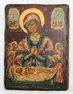 Положение во гроб, икона под старину, сургуч (17 Х 23)