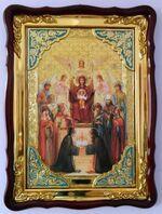 Похвала Б.М., в фигурном киоте, с багетом. Храмовая икона (60 Х 80)