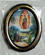 Почаевская Б.М.. Икона настольная малая, зол. кант, овал. (50 Х 65)