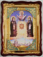 Почаевская Б.М., Явление, в фигурном киоте, с багетом. Храмовая икона (60 Х 80)