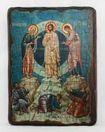 Преображение Господне,, икона под старину, сургуч (17 Х 23)