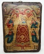 Прибавление ума Б.М., икона под старину, сургуч (17 Х 23)