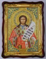 Роман Сладкопевец, в фигурном киоте, с багетом. Храмовая икона (60 Х 80)