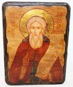 Сергий Радонежский (пояс), икона под старину, сургуч (17 Х 23)
