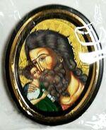 Симеон Богоприемец. Икона настольная малая, зол. кант, овал. (50 Х 65)