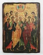 Собор 12 апостолов, икона под старину, сургуч (13 Х 17)