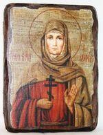 София, Св. Мч., икона под старину, сургуч (13 Х 17)