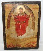 Спорительница хлебов Б.М., икона под старину, сургуч (17 Х 23)