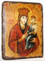 Споручница грешных Б.М., икона под старину, сургуч (13 Х 17)