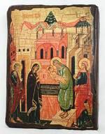 Сретение Господне, икона под старину, сургуч (13 Х 17)