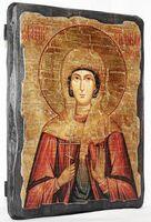 Стефанида Дамасская, Св.Муч, икона под старину, сургуч (13 Х 17)