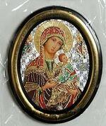 Страстная Б.М. Икона настольная малая, зол. кант, овал. (50 Х 65)