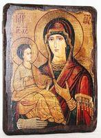 Троеручица Б.М., икона под старину, сургуч (13 Х 17)