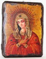 Умиление Б.М., икона под старину, сургуч (13 Х 17)