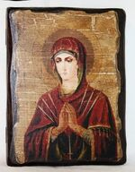 Умягчение злых сердец Б.М., икона под старину, сургуч (13 Х 17)