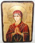 Умягчение злых сердец Б.М., икона под старину, сургуч (17 Х 23)