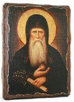 Агапит Печерский, икона под старину, сургуч (13 Х 17)