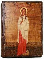 Агния, Св.Муч, икона под старину, сургуч (13 Х 17)