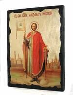 Александр Невский (рост), икона синайская, 13 Х 17