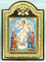 """Ангел с детьми, икона пластиковая большая """"Голубь"""" 14 Х 19"""