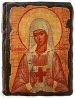 Аполлинария, Св.ПрПд. икона под старину, сургуч (17 Х 23)