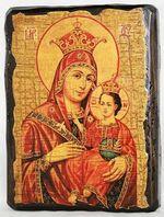 Вифлеемская Б.М., икона под старину, сургуч (13 Х 17)