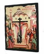Воздвижение креста Господня, икона синайская, 13 Х 17