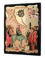 Вход Господень в Иерусалим, икона синайская, 13 Х 17