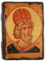 Давид, Св.Муч, икона под старину, сургуч (13 Х 17)