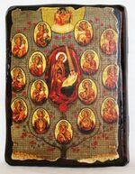 Древо Богородицы, икона под старину, сургуч (13 Х 17)