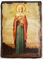 Ева,Св.ВлМч.(рост), икона под старину, сургуч (17 Х 23)