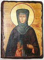 Евгения, Св.Муч, икона под старину, сургуч (13 Х 17)
