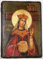 Елена, Св.Муч, икона под старину, сургуч (13 Х 17)
