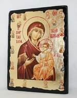 Иверская с предстоящими Б.М., икона синайская, 13 Х 17