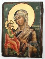 Иерусалимская Б.М., икона под старину, сургуч (13 Х 17)