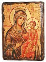Избавительница Б.М., икона под старину, сургуч (13 Х 17)